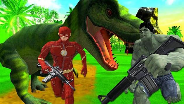 Superhero Dinosaur Hunting: Frontier Free Shooting