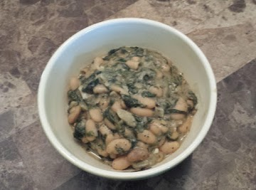 Savory White Beans & Spinach Recipe