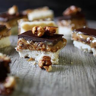 Caramel Peanut Shortbread Bars.