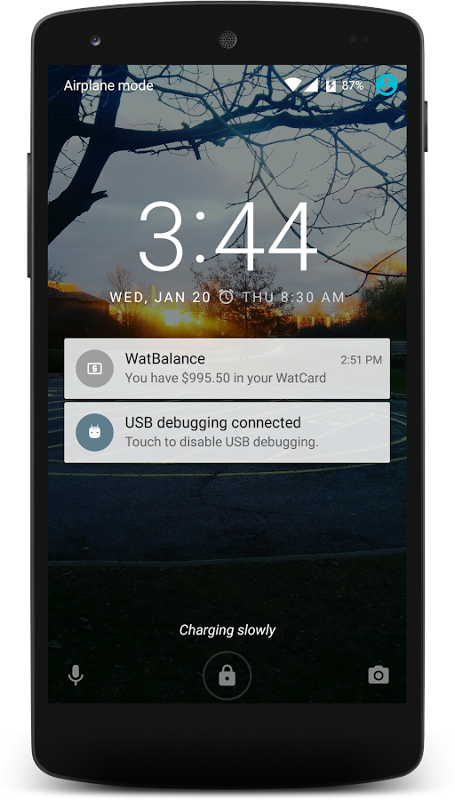 WatBalance- screenshot
