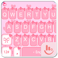 Cute Pink Bow Keyboard Theme