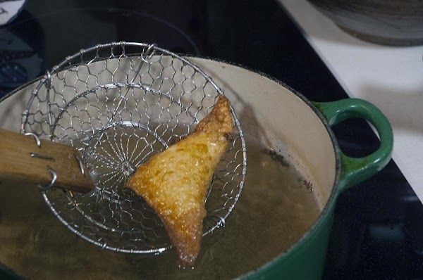 Fry until golden brown, about 3 to 5 minutes.