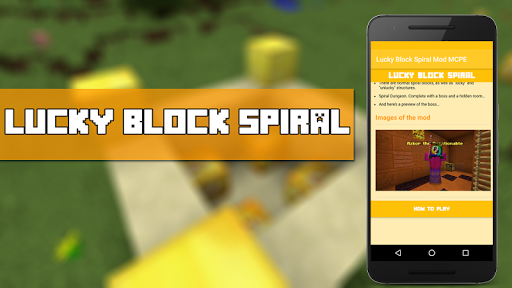 Lucky Block Spiral Mod MCPE for PC
