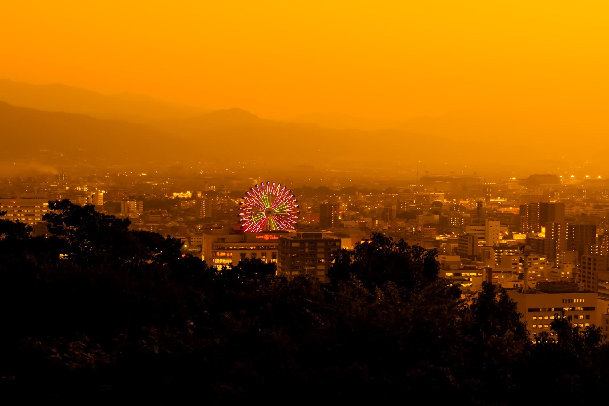 松山市 夕景