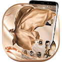 Silk Rose Gold Butterfly Theme icon
