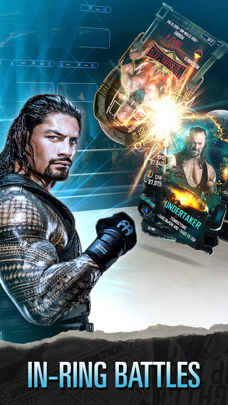 WWE SuperCard – Multiplayer Card Battle Game Cheat APK MOD Free Download 4.5.0.417538