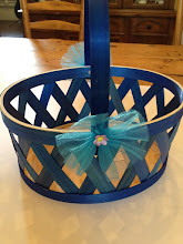 Photo: Here's the basket that I purchased for $7.99.  I loved the fact that the basket was made of a sturdy and beautifully woven wood.  The color was perfect!