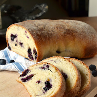 Blueberries and Cream Bread.