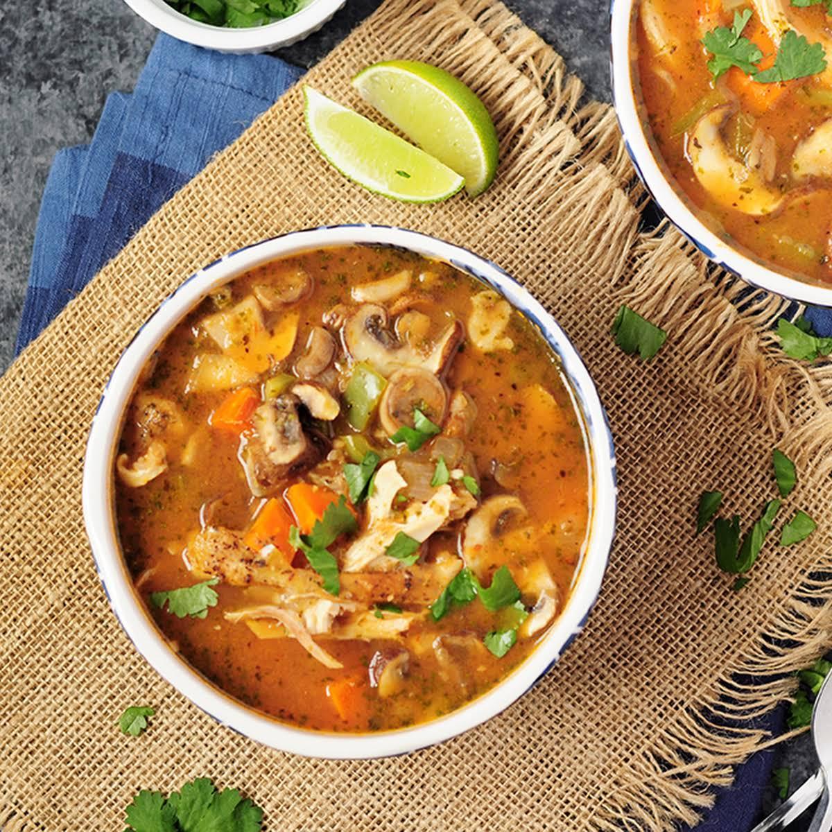 30-Min Chicken Soup Recipe w or w/o Noodles