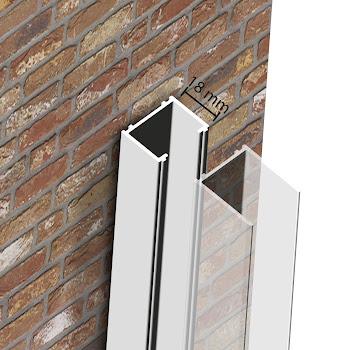 Profilé de compensation, 18 mm, blanc, pour les modèles Sunny