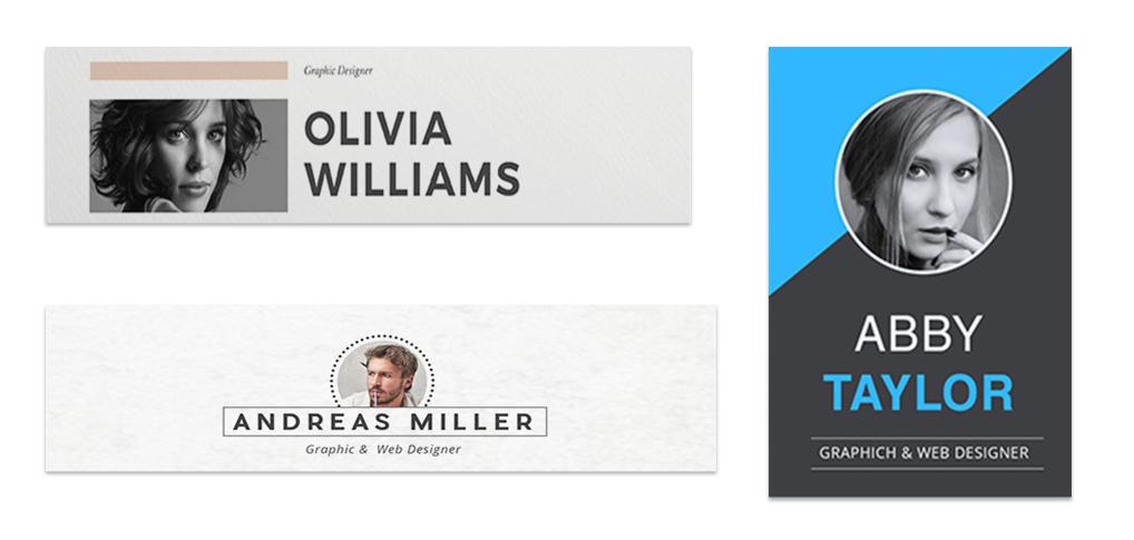 graphic design resume name and headshot