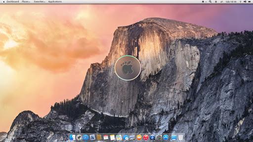 Tampilan desktop Gmac OS
