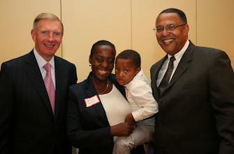 Photo: BBA President Paul Dacier and Chief Justice Roderick Ireland, with Chief Justice Ireland's daughter and grandson.