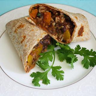 El Cheapo Burritos - Vegan Black Bean Veggie Burritos.