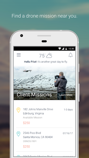 Screenshot for DroneBase Pilot App in United States Play Store