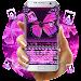 Neon Pink Butterflies Keyboard icon