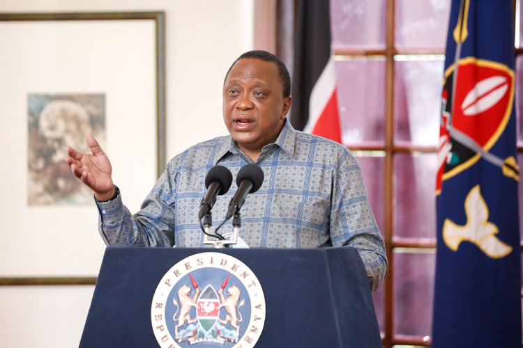 President Uhuru Kenyatta gives the fifth Presidential address on the Coronavirus pandemic at State House, Nairobi, Saturday, 25th April 2020.