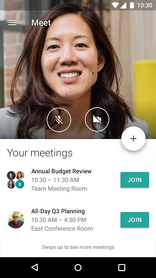 Hangouts Meet- screenshot
