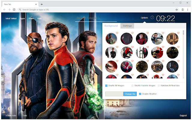 Spider-Man Far From Home - Spiderman New Tab
