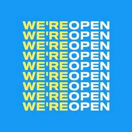 We're Open - Instagram Post item