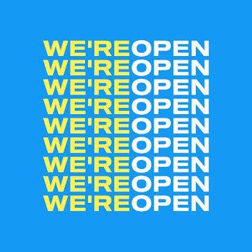 We're Open - Instagram Post template