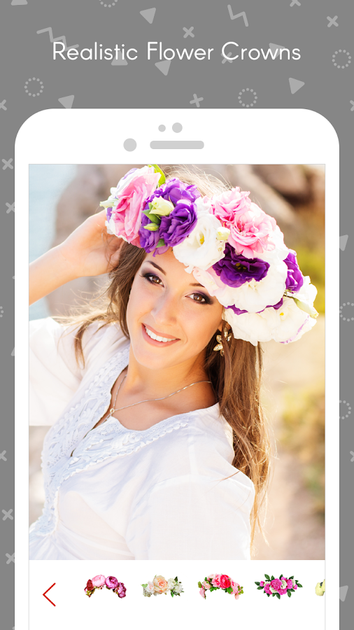 Wedding Flower Crown Photo- screenshot
