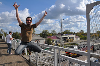Photo: Train station jumping !