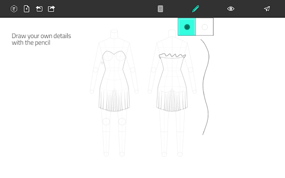 Fashion Design Flat Sketch APK screenshot thumbnail 11