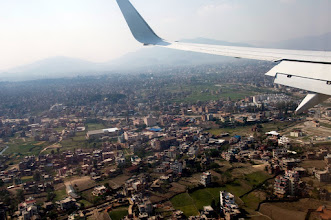 Photo: kurz vor der Landung in Kathmandu