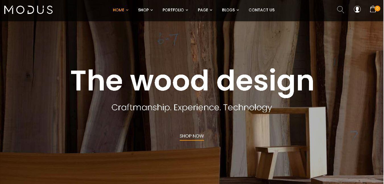 wood shop woocommerce themes modus