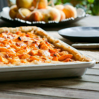 Peaches and Cream Slab Pie