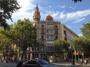 Photo: the city of modernist architecture. home of Gaudi