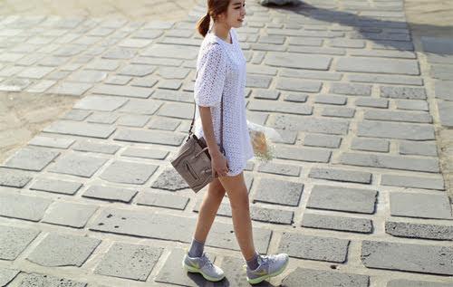 Phối Đầm suông + giày thể thao 4