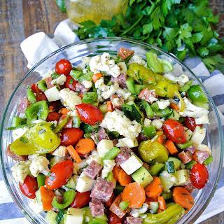 Italian Vegetable + Antipasto Salad.