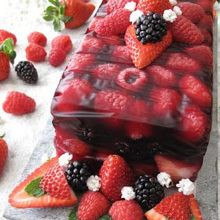 AIP / Paleo Fruit Terrine with Berries - No Bake Valentine Dessert