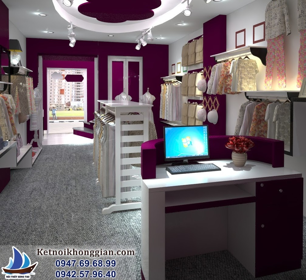 thiết kế shop thời trang nữ sáng tạo