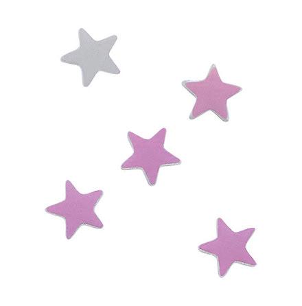 Nagelglitter white holo stars