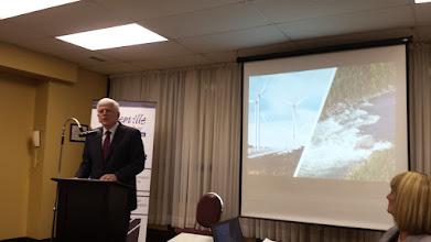 Photo: NALCOR's Ed Martin speaking to Chamber