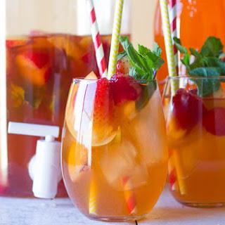 Peach Ice Tea with Peach Alize Vodka.