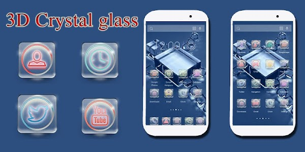 3D Crystal Glass-solo theme v1.0.0