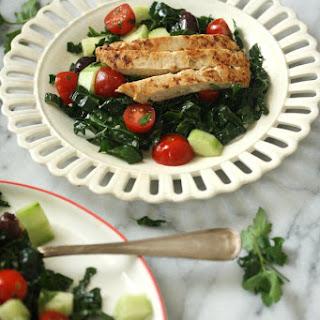 Vegan Greek Kale Salad