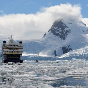 by Sheri Fresonke Harper - Landscapes Waterscapes ( antartica, explorer, national geographic, bay, ice berg )