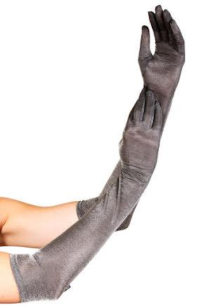 Handskar,  silver metallic