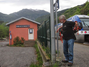 Photo: May 19, 2014. We arrive by train in La Brigue.