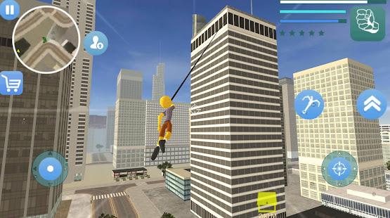 Download Stickman Sponge Rope Hero Gangstar Crime For PC Windows and Mac apk screenshot 1
