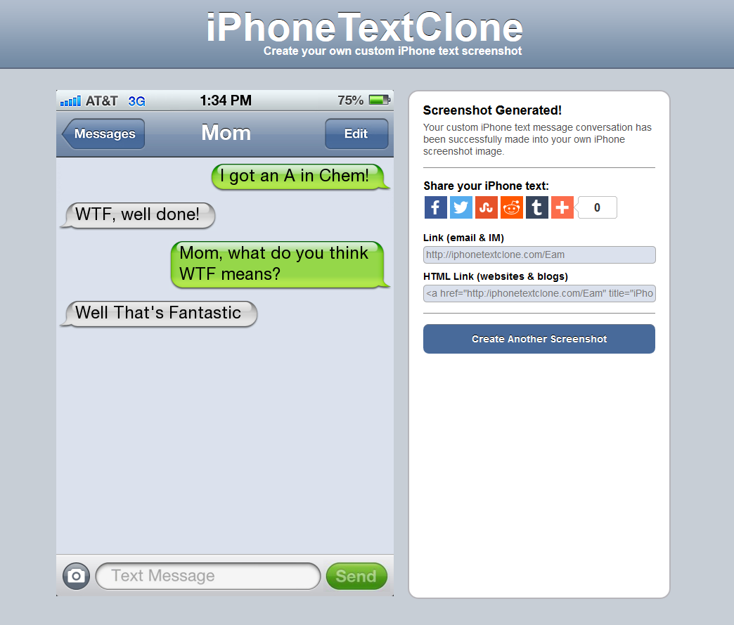 Text Clone- screenshot