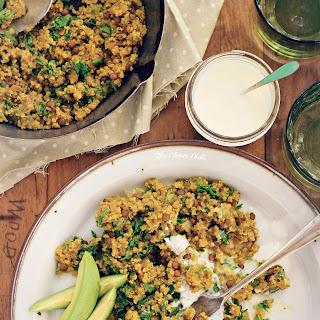 Curried Lentils and Quinoa with fresh Parsley and Avocado {grain free, gluten free, vegan}