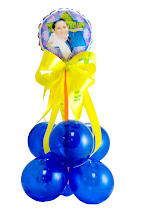 Photo: Bar Mitzvah Personalized Balloon Centerpiece