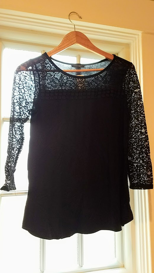 Stitch Fix Review Fall 2017, Papermoon Burkett Lace Detail Knit Top