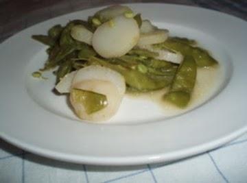 Snow Peas Flambe Recipe